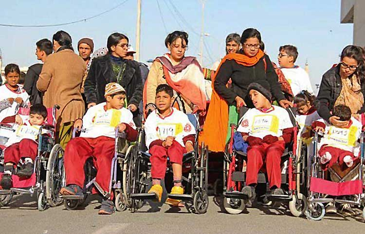 2nd SOP Unified Marathon: A large number of children participated in wheelchairs