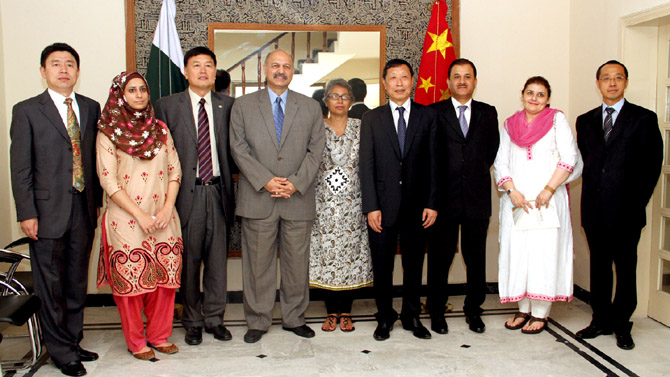- THE CHINA ASSOCIATION FOR INTERNATIONAL FRIENDLY CONTACT VISITS THE PAKISTAN-CHINA INSTITUTE