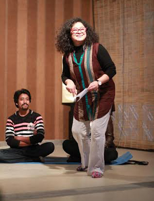 Sania Saeed at the workshop