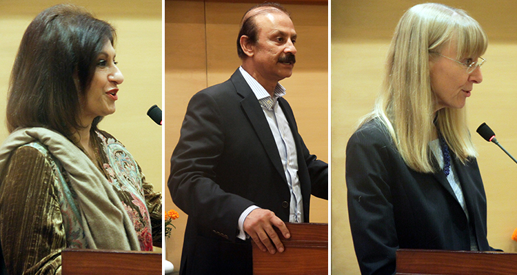 Ms. Nageen Hayat, Mr. Kamran Lashari and Ms. Ina Lepel