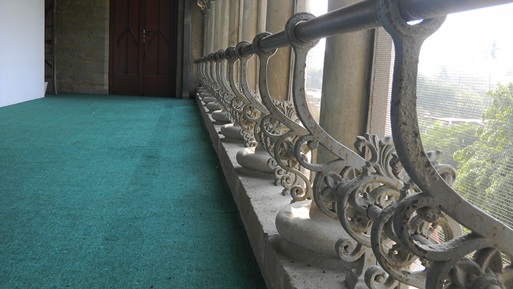 Genuine ironclad railings on the Sadequain Gallery balcony