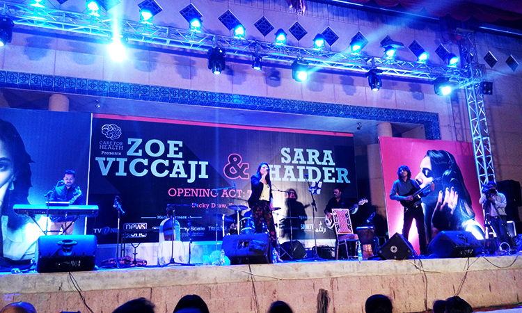 Care For Health: Zoe Viccaji and Sara Haider Sing at The Arts Council, Karachi