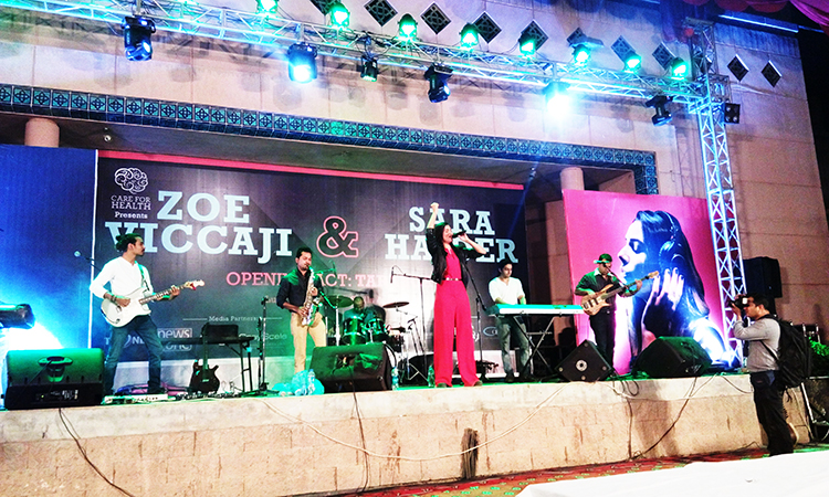 Sara Haider sings for mental health - Care For Health: Zoe Viccaji and Sara Haider Sing at The Arts Council, Karachi