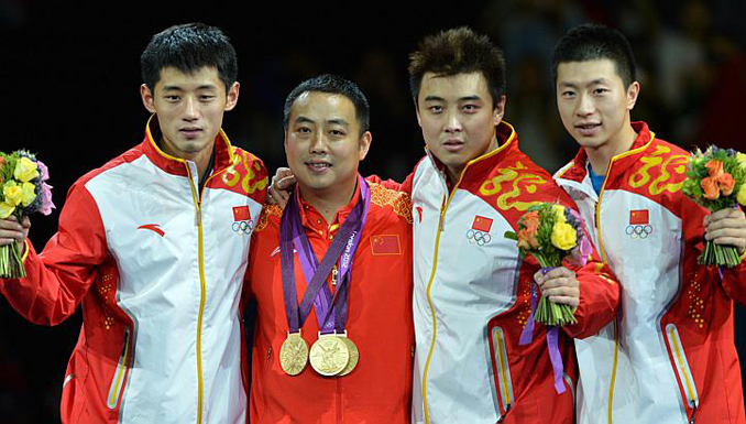 Chinese Men's Team Wins Table Tennis Gold at London Olympics 2012 - RAISING CHAMPIONS