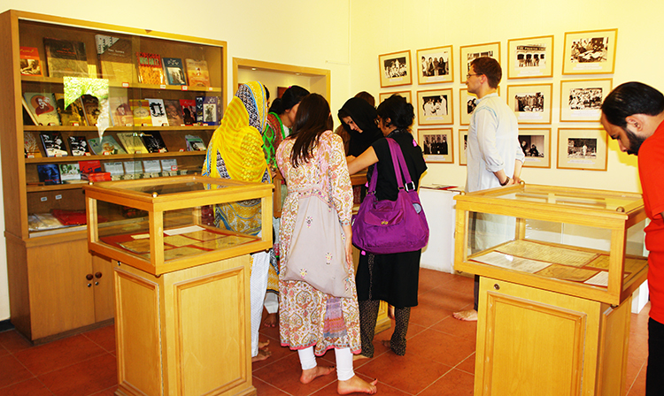 Students visiting Faiz Ghar