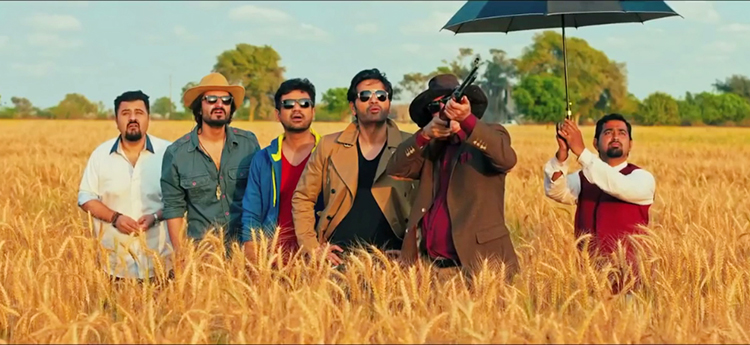 (l-r) Ahmed Ali Butt, Hamza Ali Abbasi, Vasay Chaudhry, Humayun Saeed and Javed Sheikh - Film Review: Jawani Phir Nahi Ani
