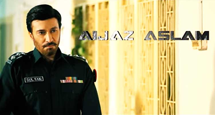 Aijaz Aslam as Inspector Sultan - Film Raasta by Sahir Lodhi