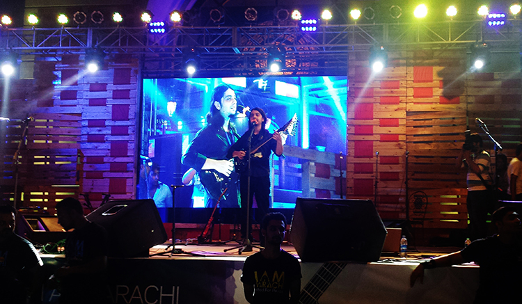 Faraz Anwar in his Heavy Metal Performance
