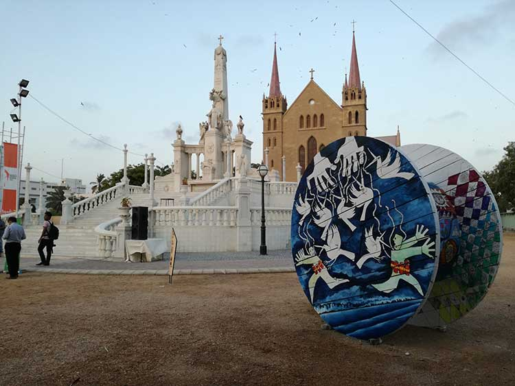 Karachi Biennale: Reel On Hai - Feica's Reel at St. Patrick's Cathedral