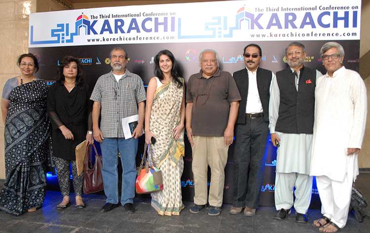 Filmmakers pose with the organizers of The Karachi Conference - Karachi Conference 2015 - Day 1