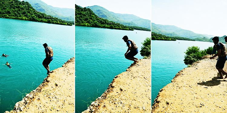 Khanpur cliff diving