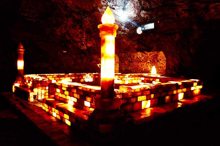 Inside of the Khewra Salt Mine