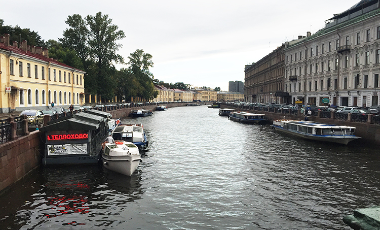 canal in St Petersburg