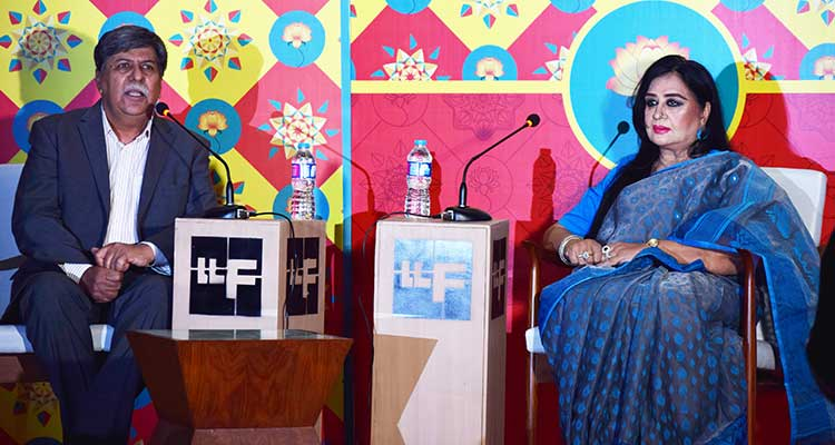 Lahore Literary Festival (LLF) 2017: Writer Asghar Nadeem Syed with legendary actress Shabnam Ghosh