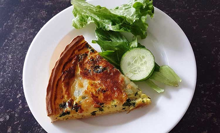 Loafology Bakery and Cafe, Islamabad: Spinach Feta Quiche