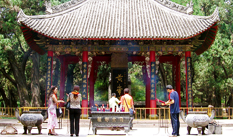 Mausoleum of the Yellow Emperor in China