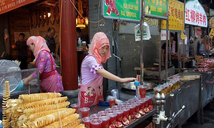 Muslim Delicacies at Hui Block in Xian