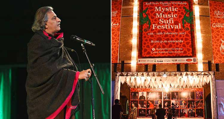 Usman Peerzada, the moving spirit behind the festival (source: 'Rafi Peer Theatre Workshop' Facebook page) - Mystic Music Sufi Festival 2017