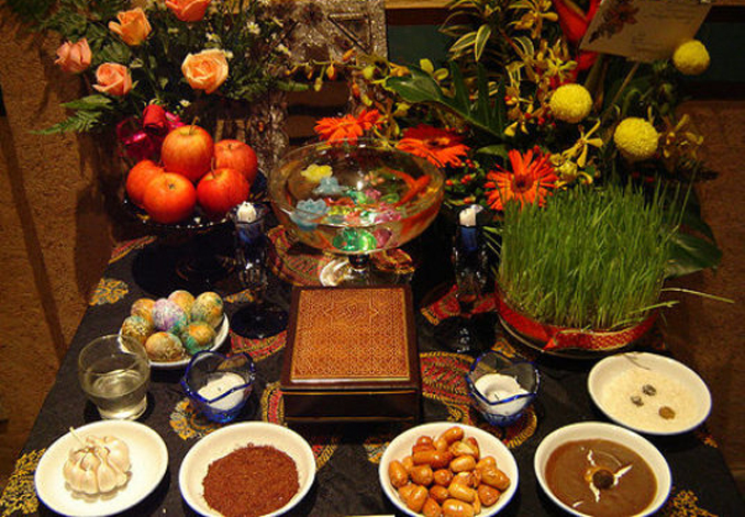Table spread for Navroz - Navroz: The Blossoming of a New Day
