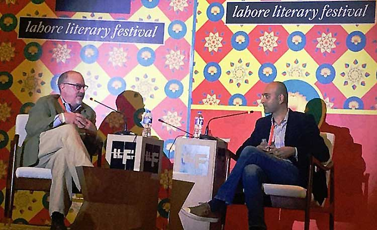 Mohsin Hamid with Dwight Garner at the launch of 'Exit West', LLF 2017 - Book Review: 'Exit West' by Mohsin Hamid