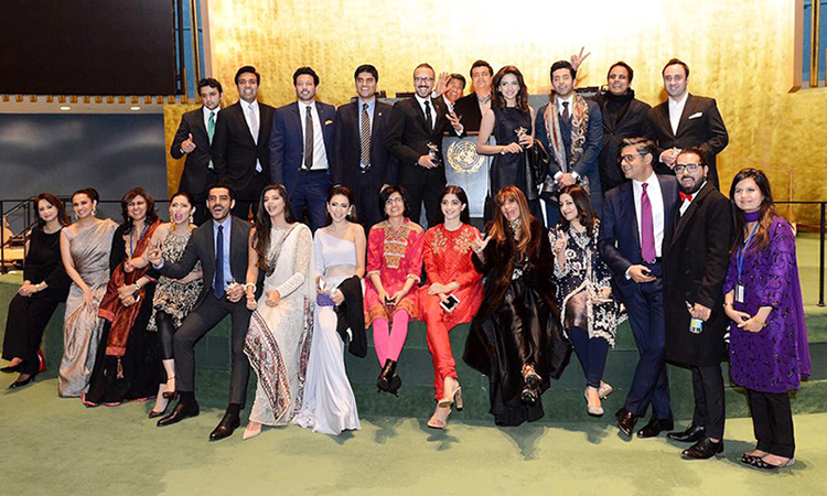 Red carpet event at the UN (photo: Javaria Inam) - Pakistan Film Festival, New York