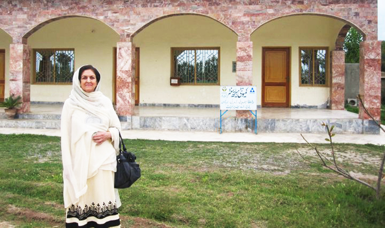 Dr. Parveen Azam at one of Dost's health clinics