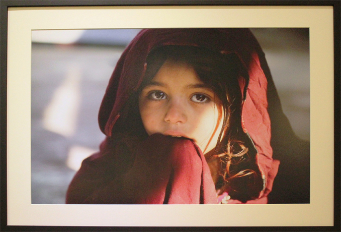 Bibi Asma, 7, has respiratory problems - Photography Exhibition 'Pakistan behind the headlines' at Nomad Gallery Islamabad