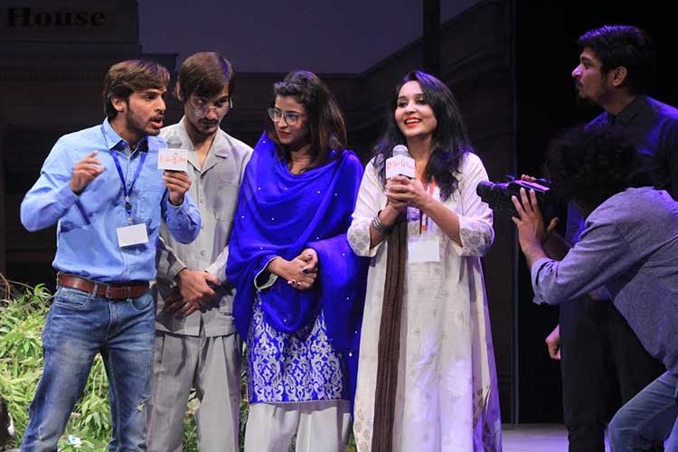 The media and politicians indulging in personal publicity - Play 'Aesay Hi Chalta Hai' at the NAPA International Theatre and Music Festival