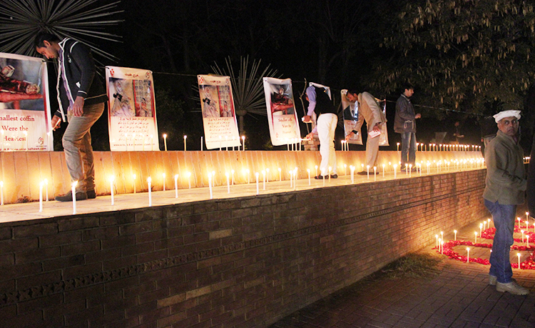 Candle light vigils across Islamabad to commemorate last year's terror attack on APS, Peshawar - Saluting our APS Martyrs