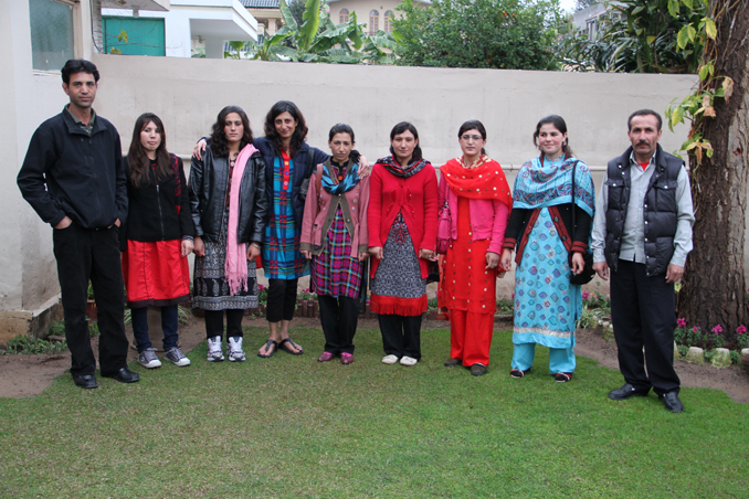 Mountaineer Shehrbano Saiyid with her team from Shimshal Valley - Pakistani Women Mountaineers from Shimshal and Hunza