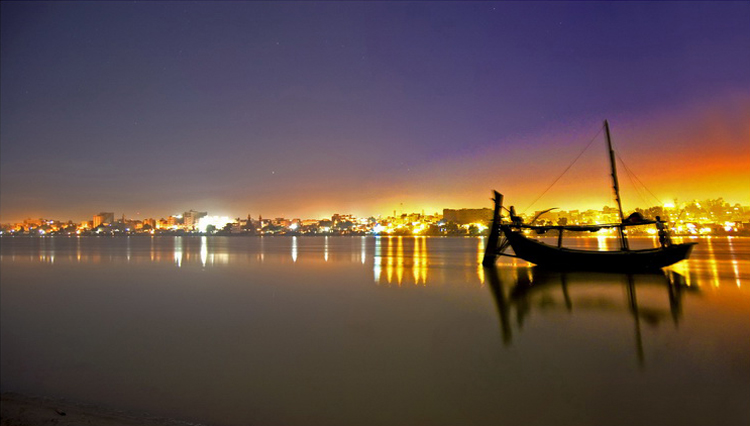New Silk Road Route: River Indus, with Sukkur in the background