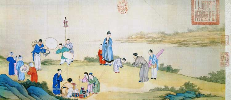 'Peaceful Spring Market' - Ding Guanpeng (source - Chinese Portal) - The Spring Festival in Ancient Chinese Paintings