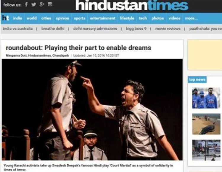 Stage Nomad Productions gets featured in Hindustan Times