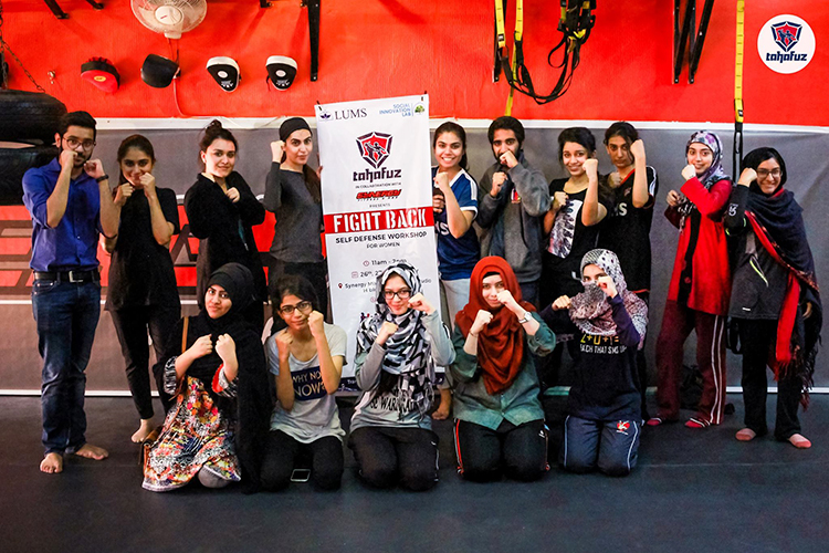 The first self-defense class of Project Tahafuz - Tahafuz: Making a World Free of Sexual Violence and Assault