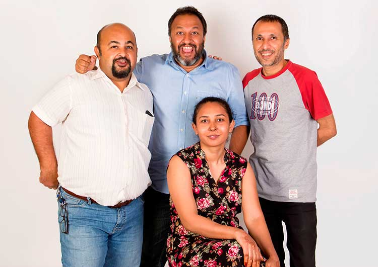 The East End Restaurant Karachi: Founding members Muffi Halai, Adil Moosajee, Fawad Arif and Gulnaz