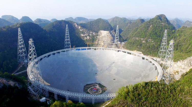 The world's biggest radio telescope observation deck - 'Top of the World' Construction in China