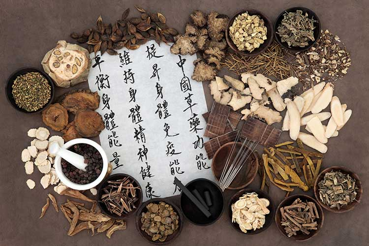 Traditional Chinese medicinal herbs (source: Lucinda Kotter, Licensed Acupuncturist) - Traditional Chinese Medicine Contributes to Human Health