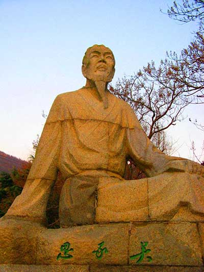 A statue of Wu Cheng'en - Wu Cheng'en and His Novel 'Journey to the West'