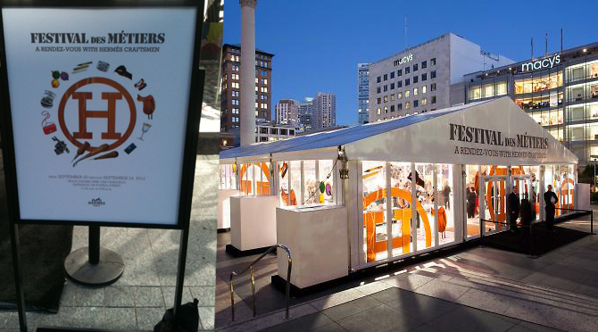 HERMES FESTIVAL OF ARTISANS AT WORK HELD AT UNION SQUARE SAN FRANCISCO USA SEPT 20 TO 24 2012