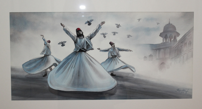 Dervishes Art Exhibition By Mubashir Iqbal at Nomad Art Gallery Islamabad