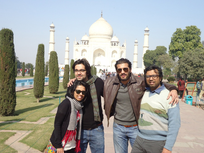 Our group in front of the Taj Mahal