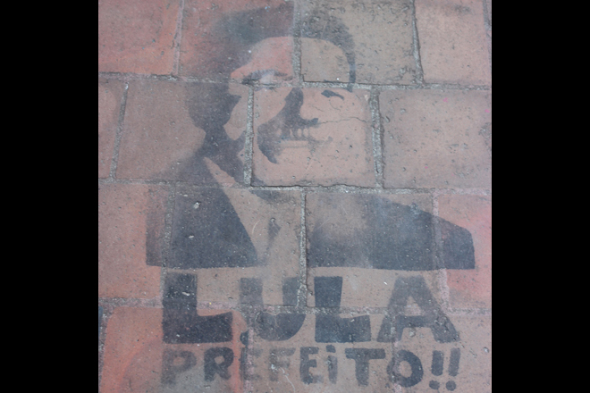 'Perfect Lula' painted on the pavement