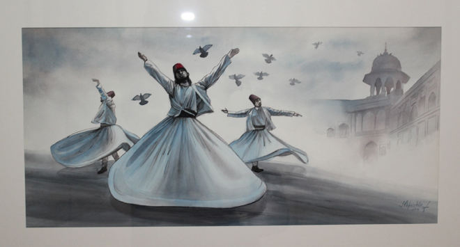 Dervishes Art Exhibition By Mubshir Iqbal at Nomad Art Gallery Islamabad