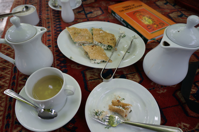 Burus Xhapik with Tumuru Chai at Kha Basi Cafe
