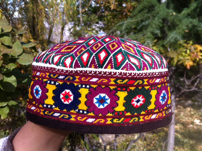 Hunza Women Wear Beautiful Petit Point Caps - The Skeeth, Parsing and Khol