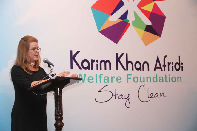 Cristina Afridi, Chairperson of KKAWF