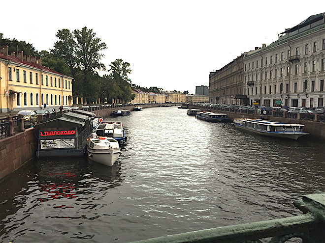 A canal at St Petersburg