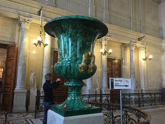 Giant Malachite vase