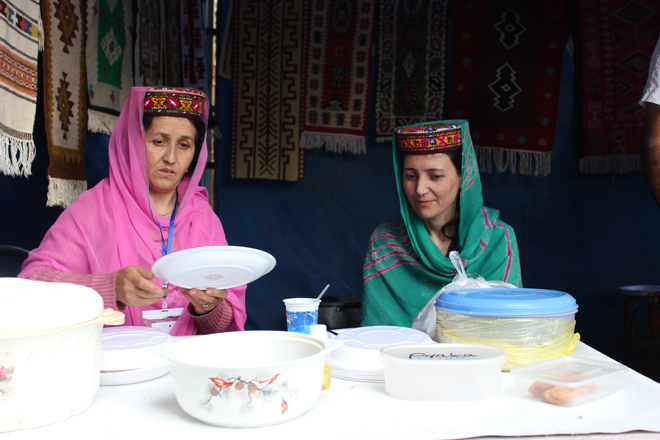 Women from Gilgit Baltistan Sell their Traditional Food
