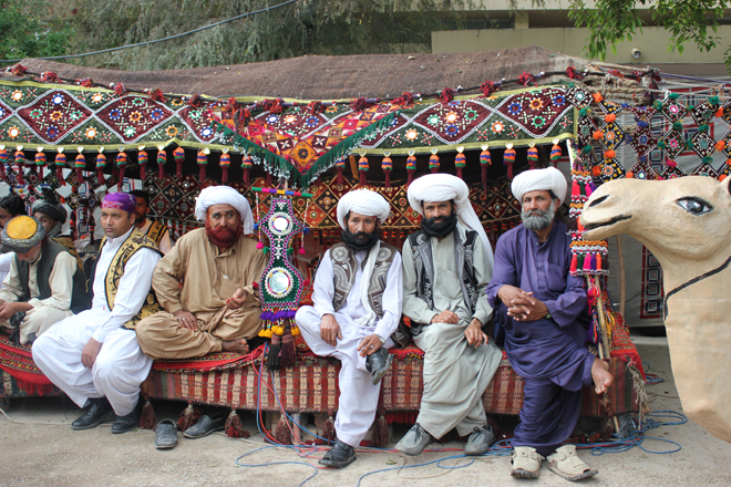 Baluchis in their Traditional Attire